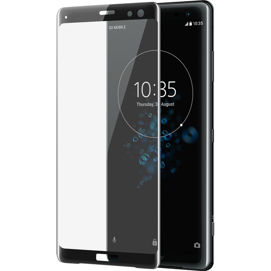Azuri Gehard Glas Sony Xperia XZ3 Screenprotector Zwart