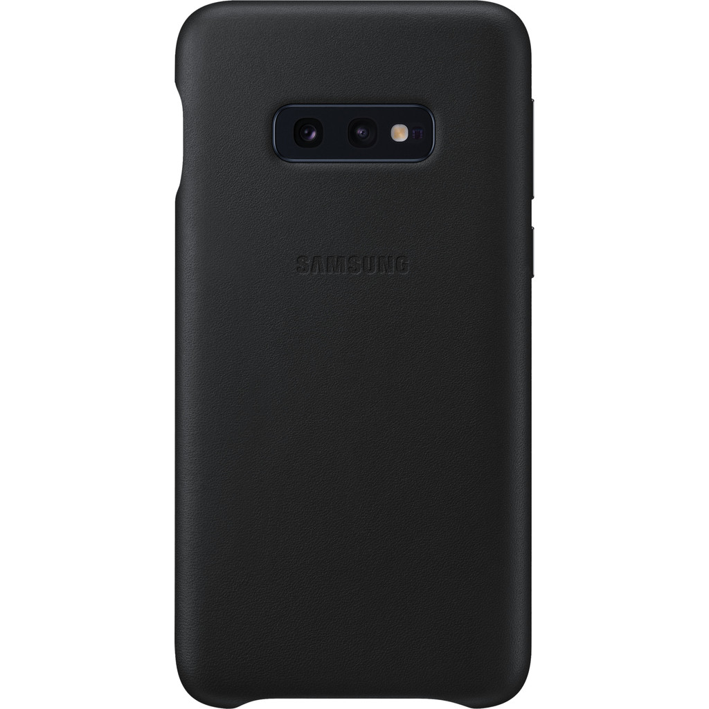 Samsung Galaxy S10e Leather Back Cover Zwart