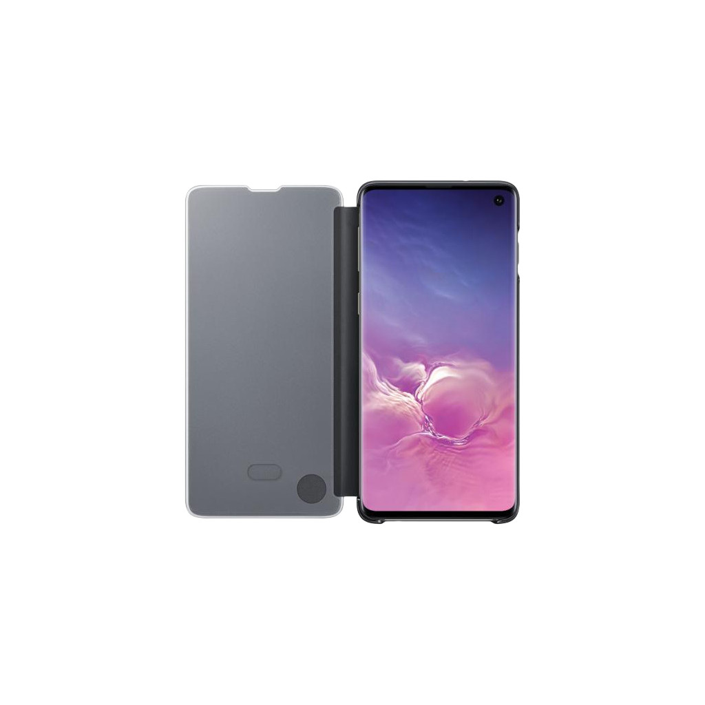 Samsung Galaxy S10 Clear View Cover Book Case Zwart