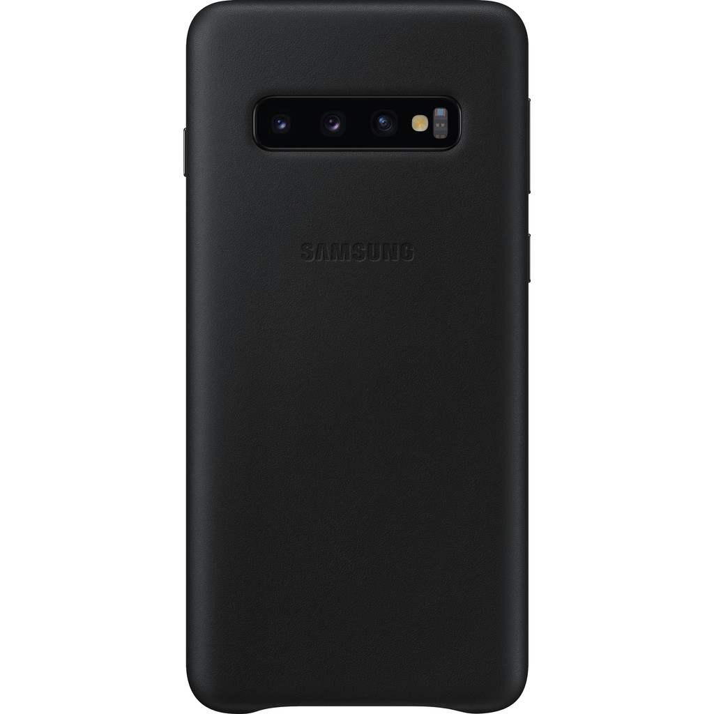 Samsung Galaxy S10 Leather Back Cover Zwart