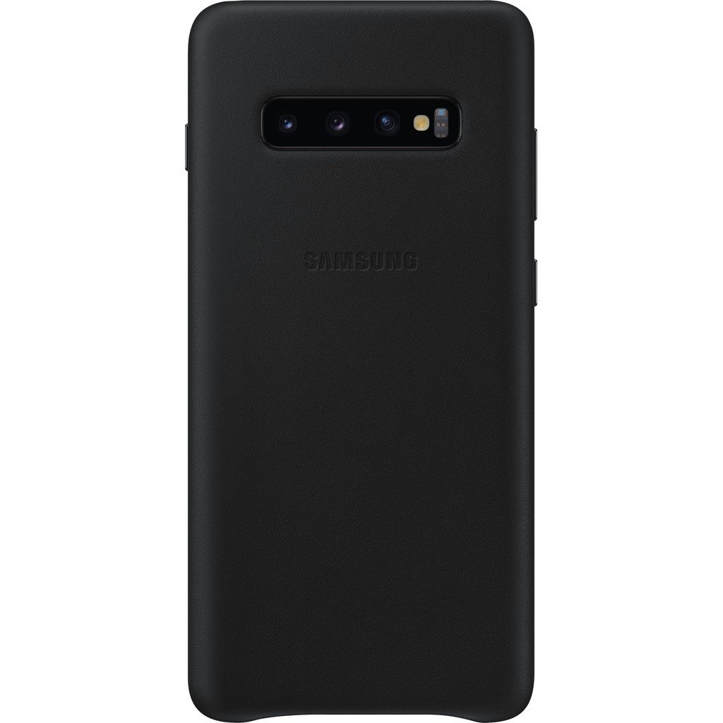 Samsung Galaxy S10 Plus Leather Back Cover Zwart