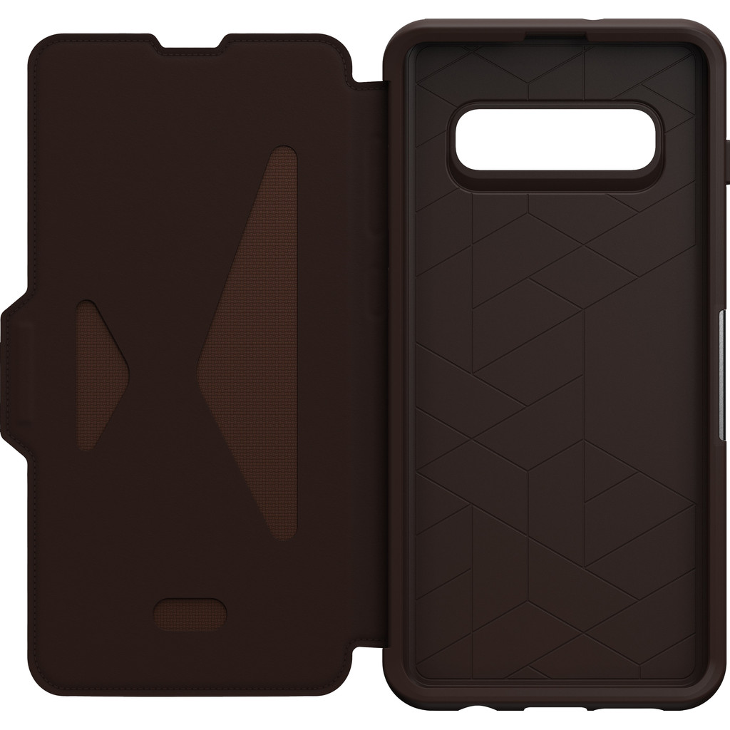 OtterBox Strada Samsung Galaxy S10 Plus Book Case Bruin
