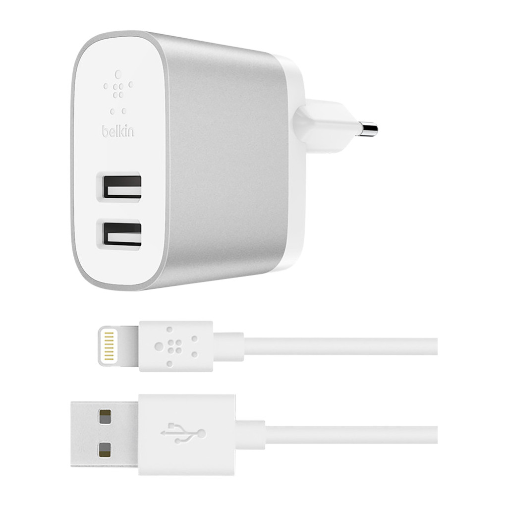 Belkin Boost Charge Dual Usb 4,8A Zilver