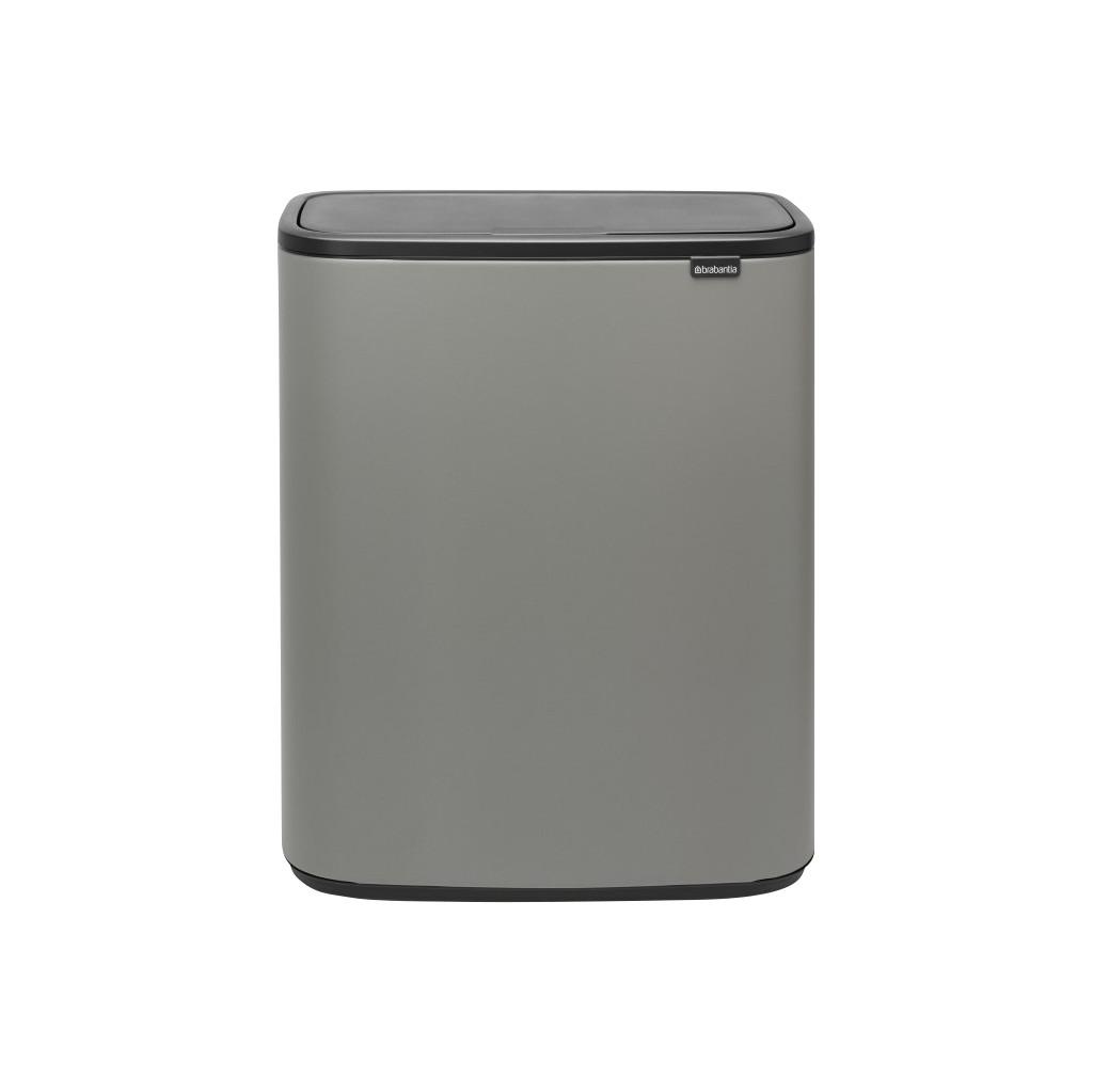 Brabantia Bo Touch Bin 2 x 30 Liter Mineral Concrete Grey