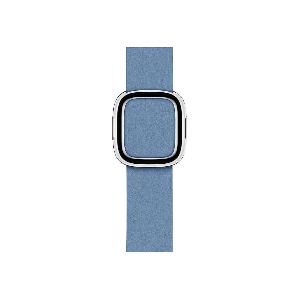 Apple Watch 40mm Modern Leren Horlogeband Korenbloemblauw - Medium