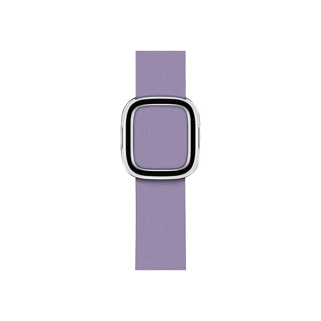Apple Watch 40mm Modern Leren Horlogeband Lila - Small