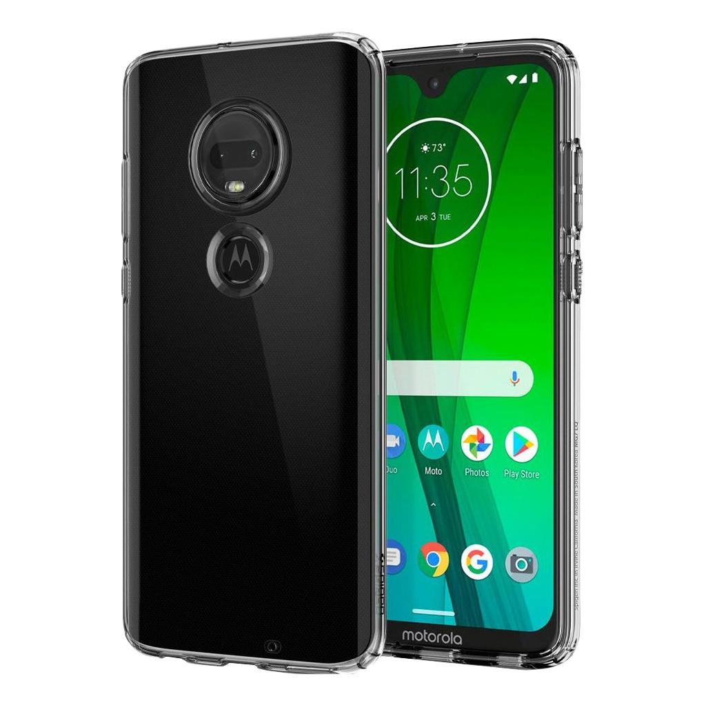 Spigen Liquid Crystal Motorola Moto G7 Back Cover Transparant
