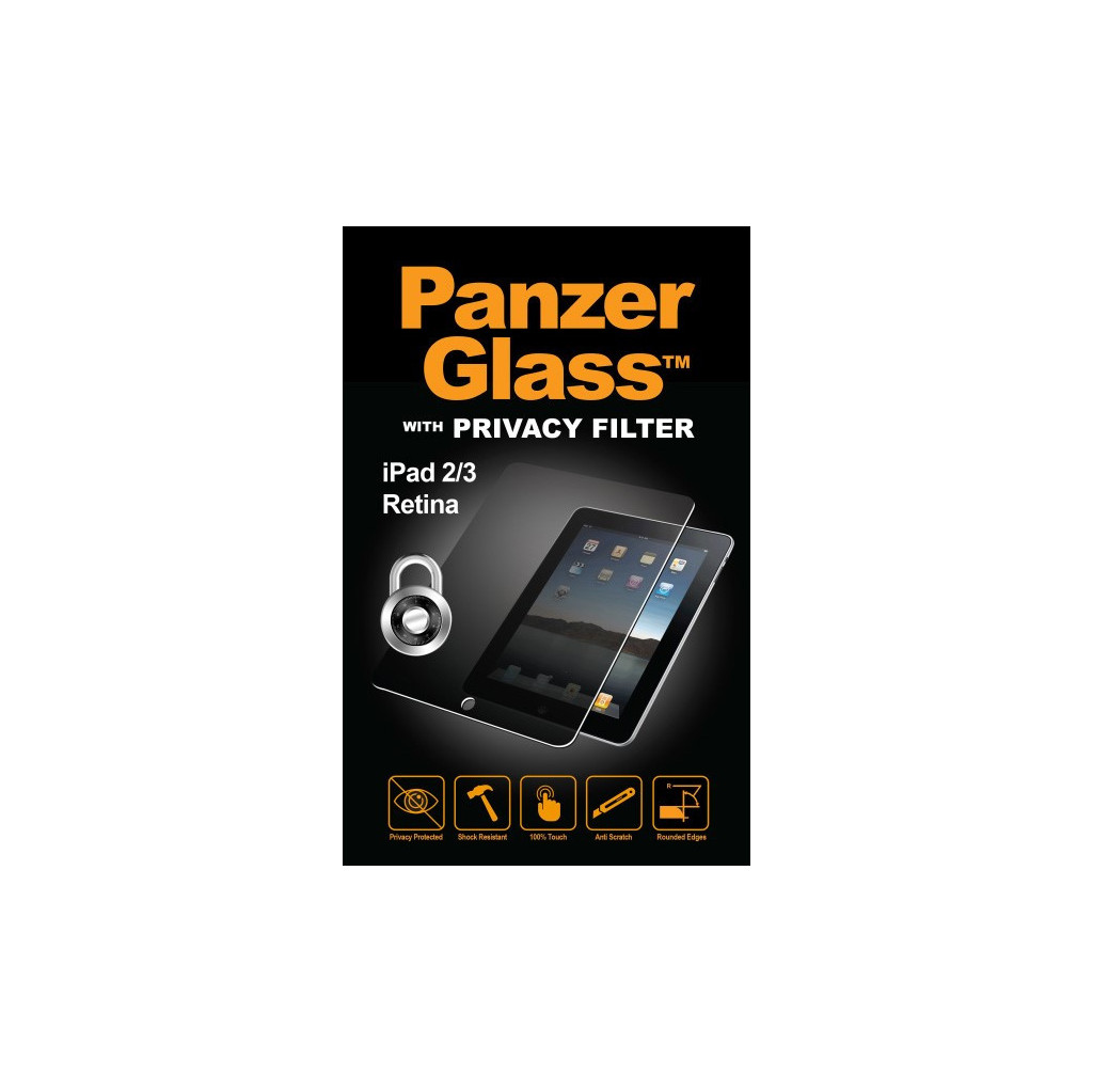 PanzerGlass Privacy Apple iPad 2/3/4 Screenprotector Glas