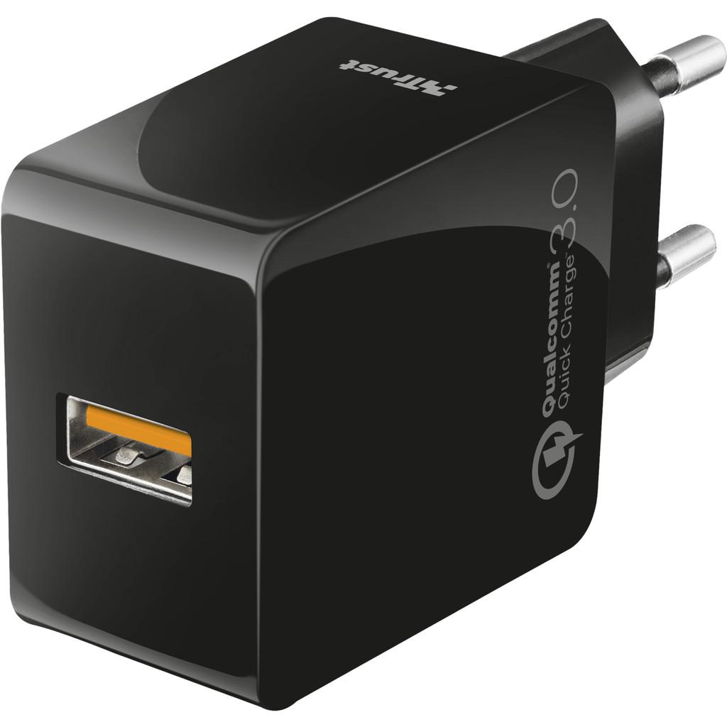 Trust Ultrafast Oplader zonder Kabel 18W Quick Charge 3.0 Zwart