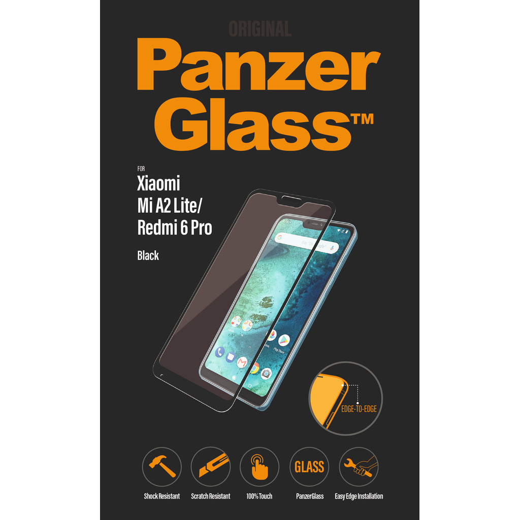 PanzerGlass Xiaomi Mi A2 Lite (Redmi 6 Pro) Screenprotector Glas Zwart