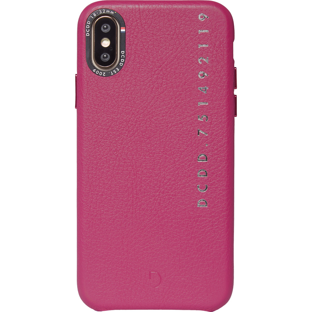 Decoded Leather Apple iPhone X/Xs Back Cover Roze