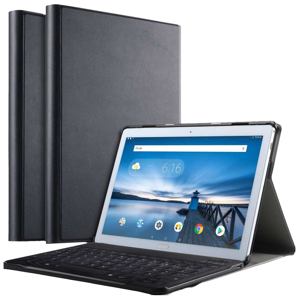 Just in Case Premium Bluetooth Lenovo Tab P10 Toetsenbord Hoes Zwart AZERTY
