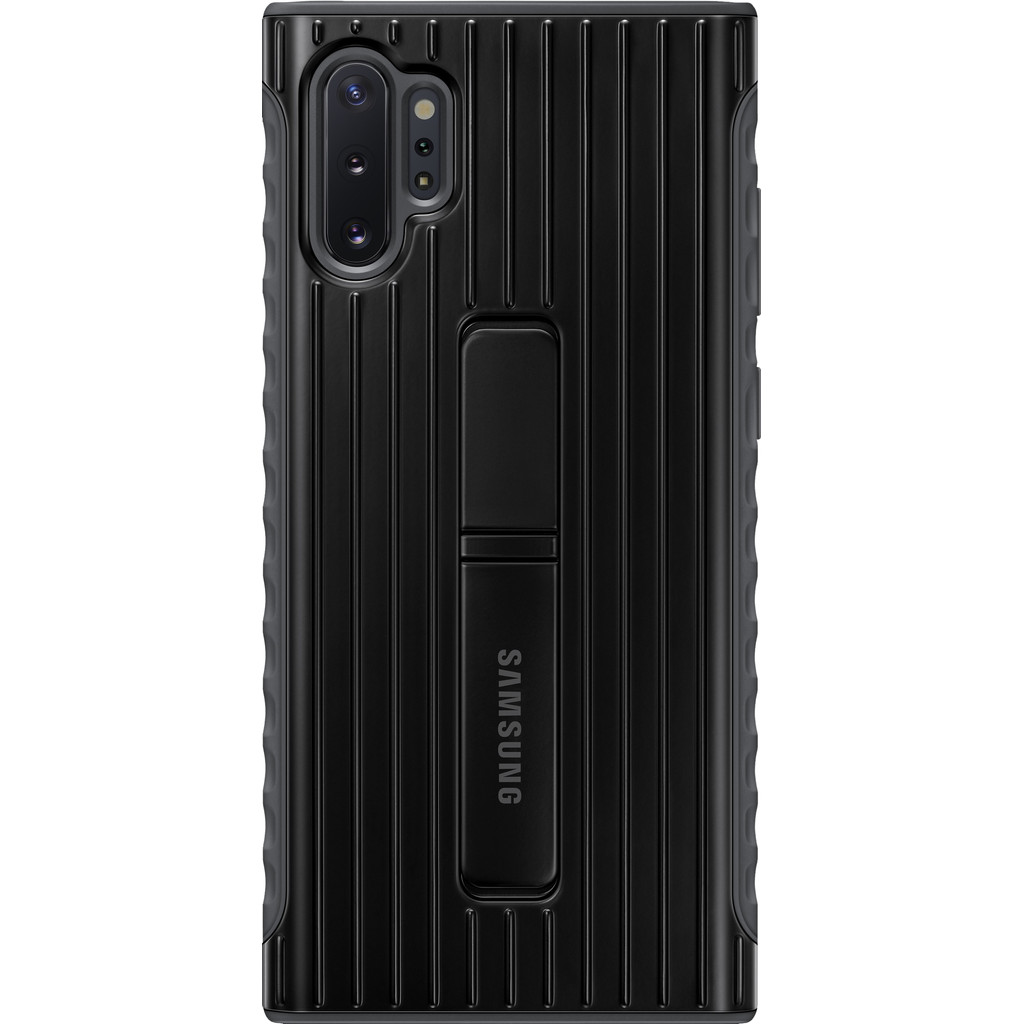 Samsung Galaxy Note 10 Plus Protective Standing Back Cover Zwart