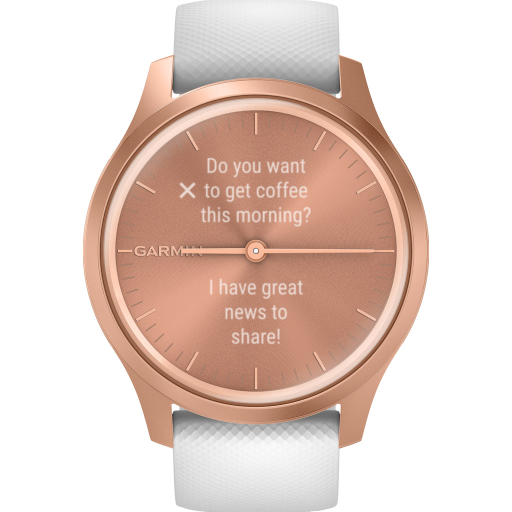 Garmin Vivomove Style - Rosé Goud/Wit - 42 mm