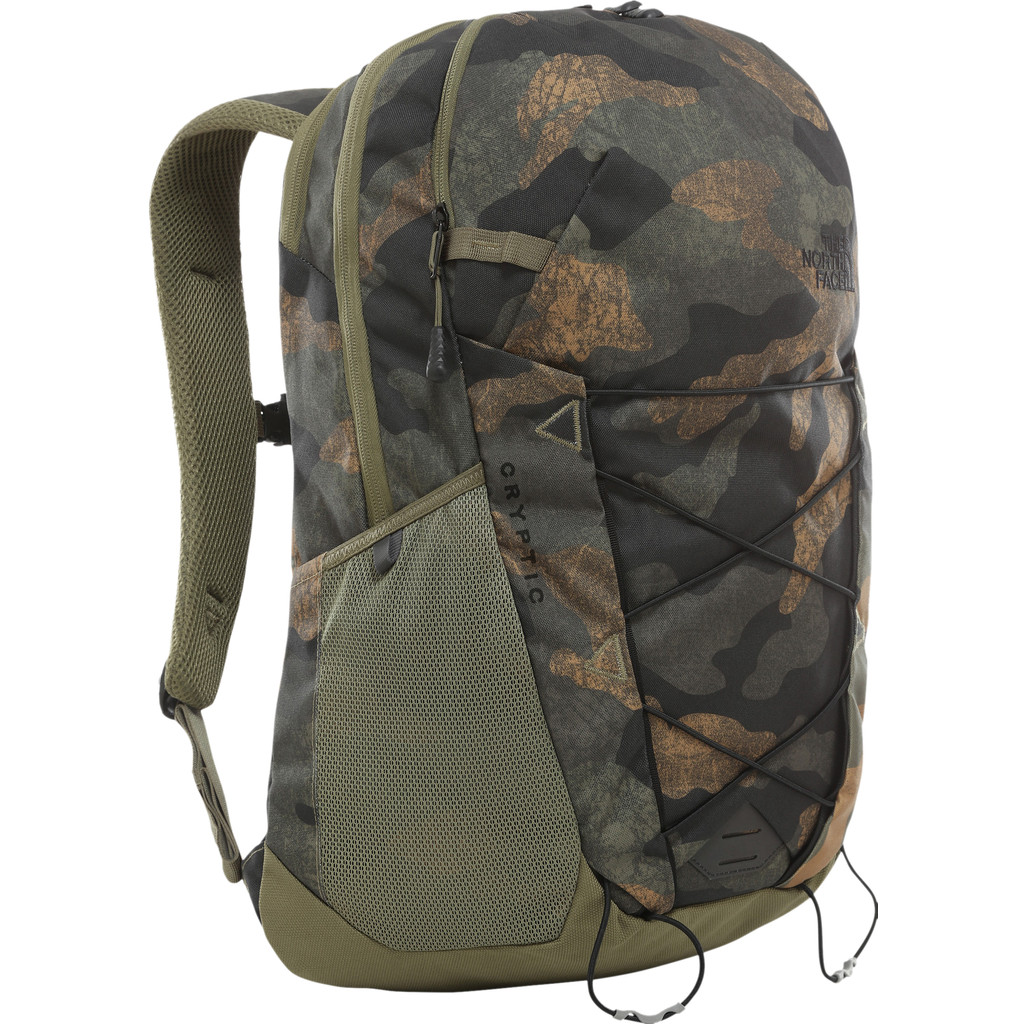 "The North Face Cryptic 15"" Burnt Olive Green Waxed Camo 23L"