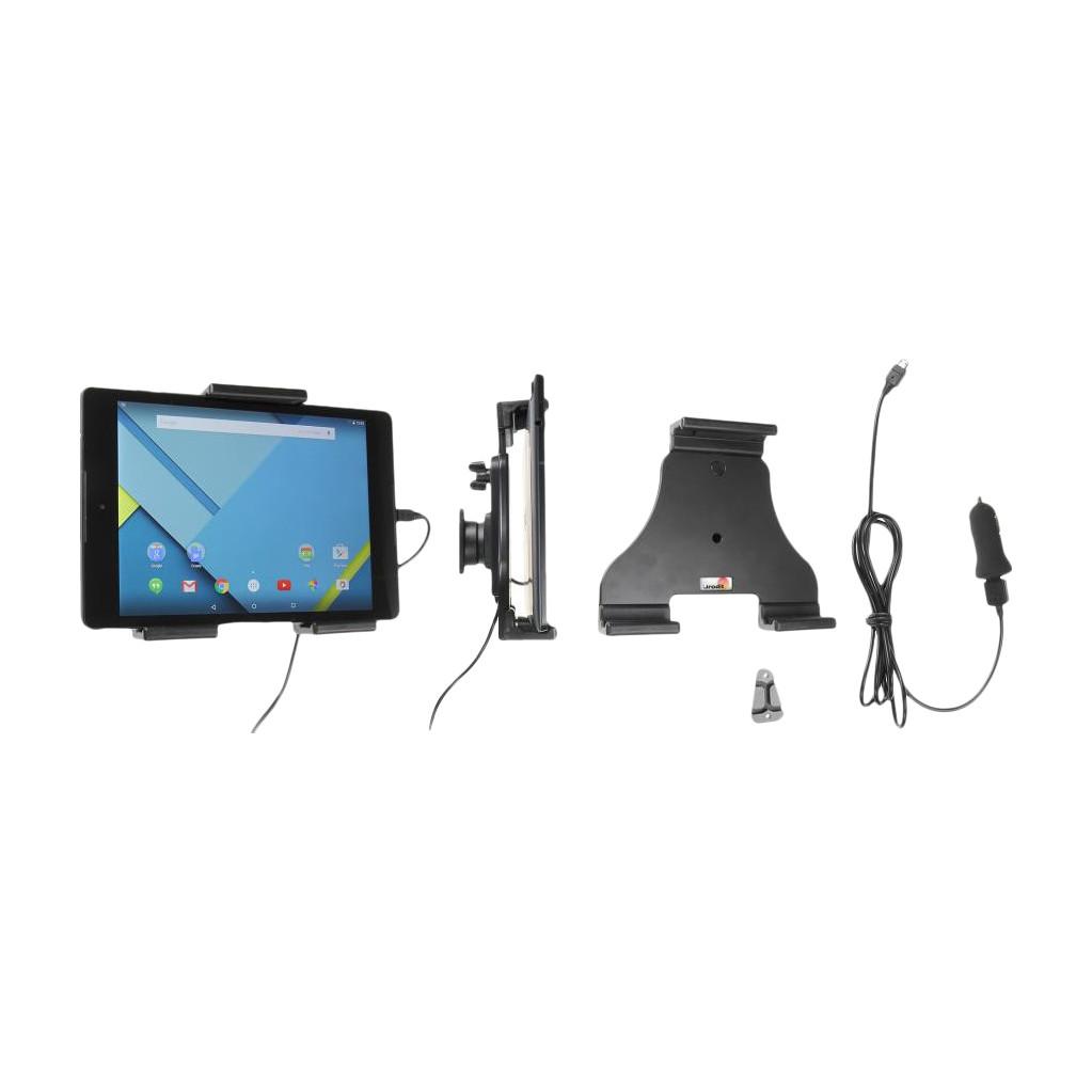 Brodit Universele Autohouder voor Tablets 14 - 19,5 centimeter met Oplader