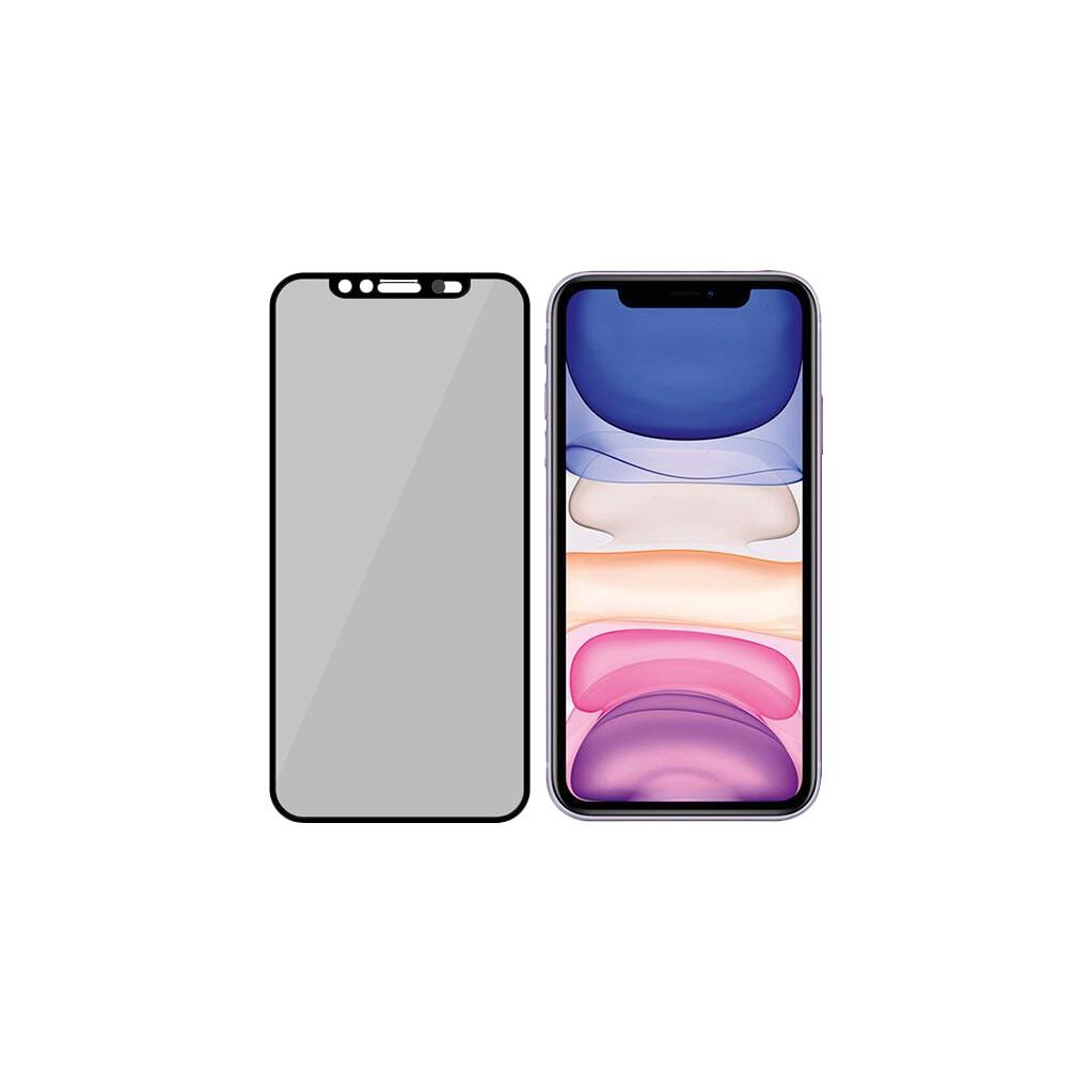 PanzerGlass Privacy Camslider iPhone Xr/11 Screenprotector Glas Zwart