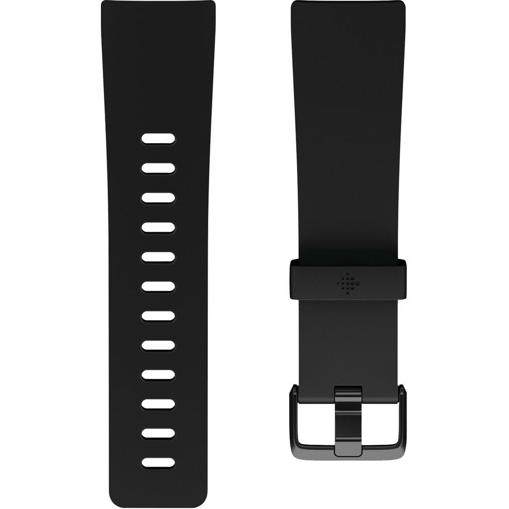 Fitbit Versa 2 Classic Accy Siliconen Horlogeband Zwart L