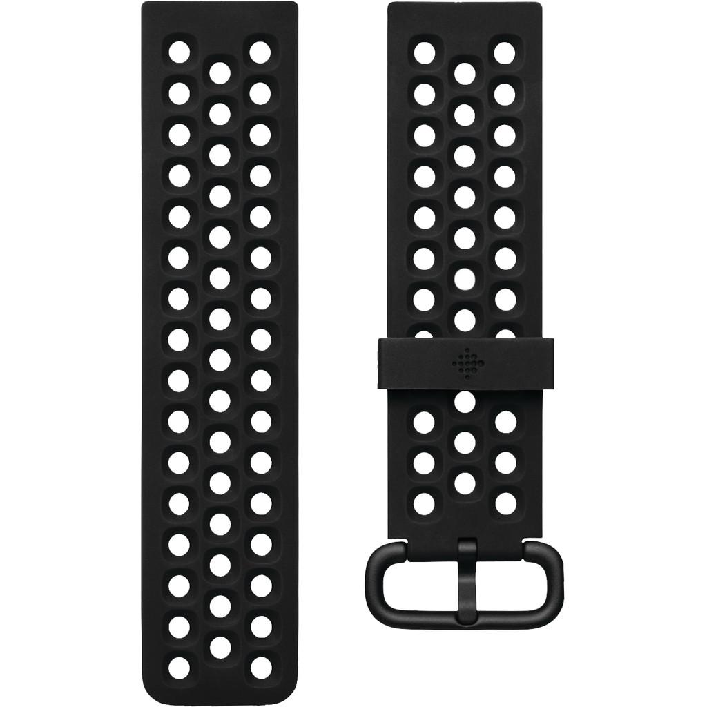 Fitbit Versa 2 Sport Siliconen Horlogeband Zwart L