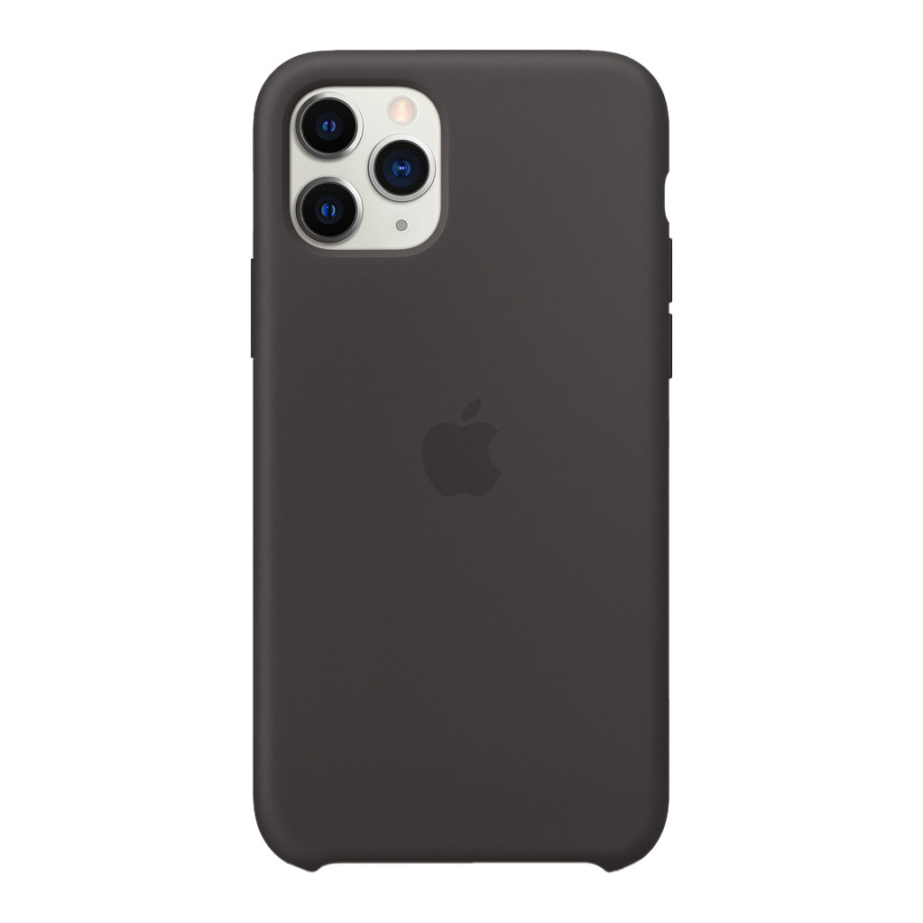 Apple iPhone 11 Pro Max Silicone Back Cover Zwart