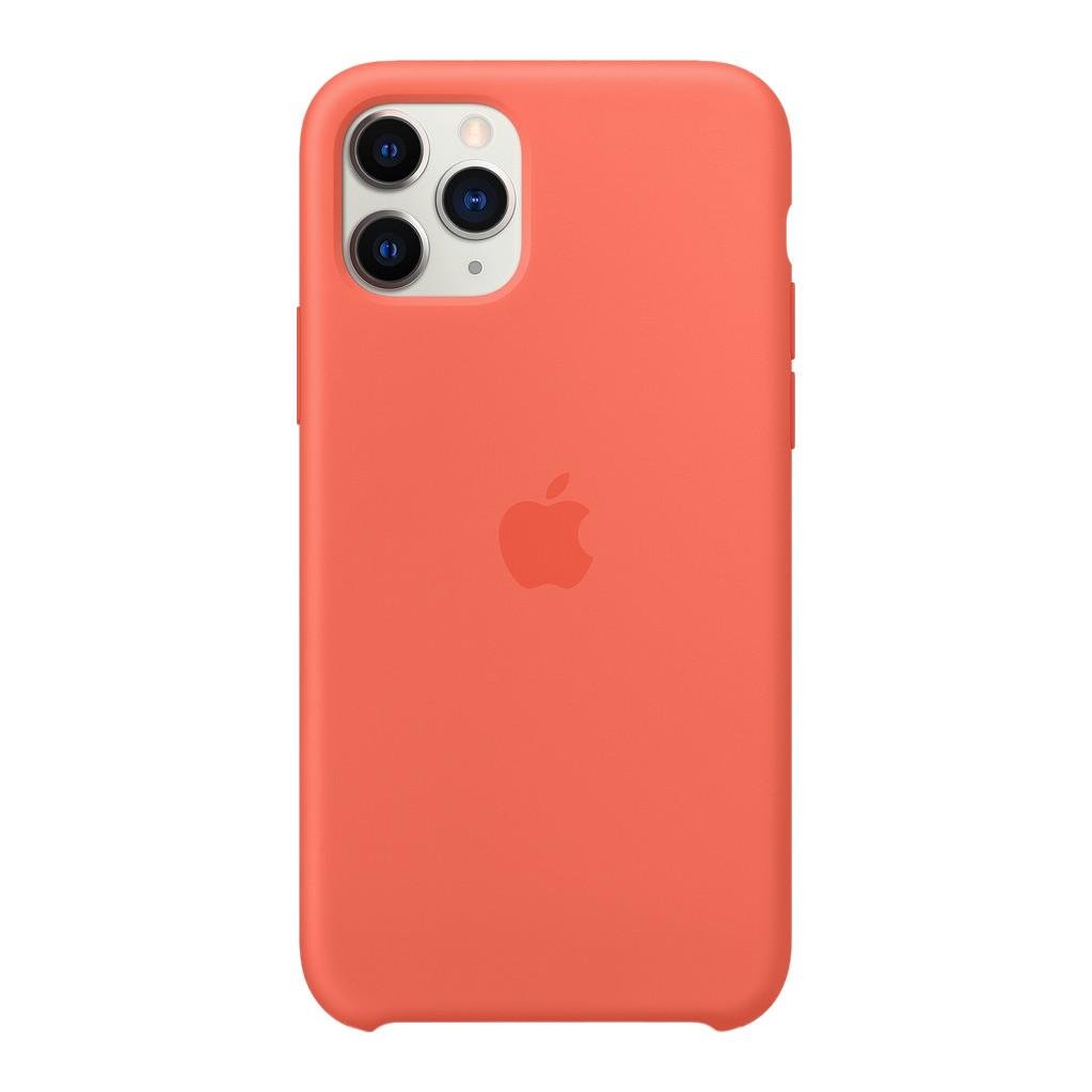 Apple iPhone 11 Pro Max Silicone Back Cover Mandarijn