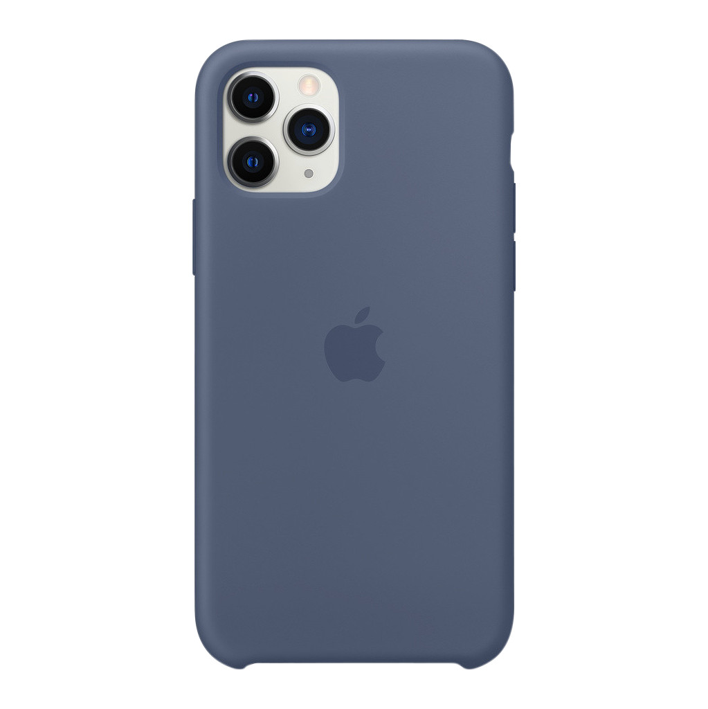 Apple iPhone 11 Pro Max Silicone Back Cover Alaska Blauw