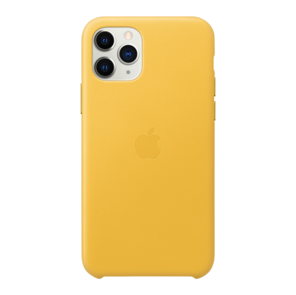 Apple iPhone 11 Pro Max Leather Back Cover Donker Citroen