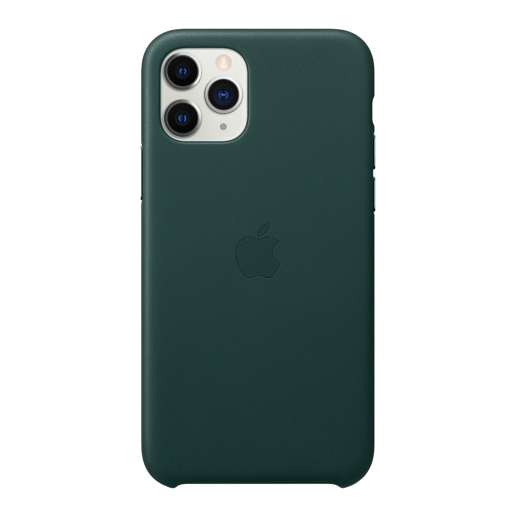 Apple iPhone 11 Pro Max Leather Back Cover Bosgroen