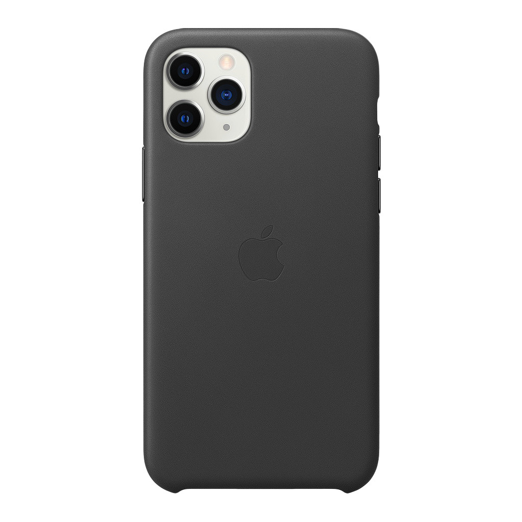 Apple iPhone 11 Pro Max Leather Back Cover Zwart