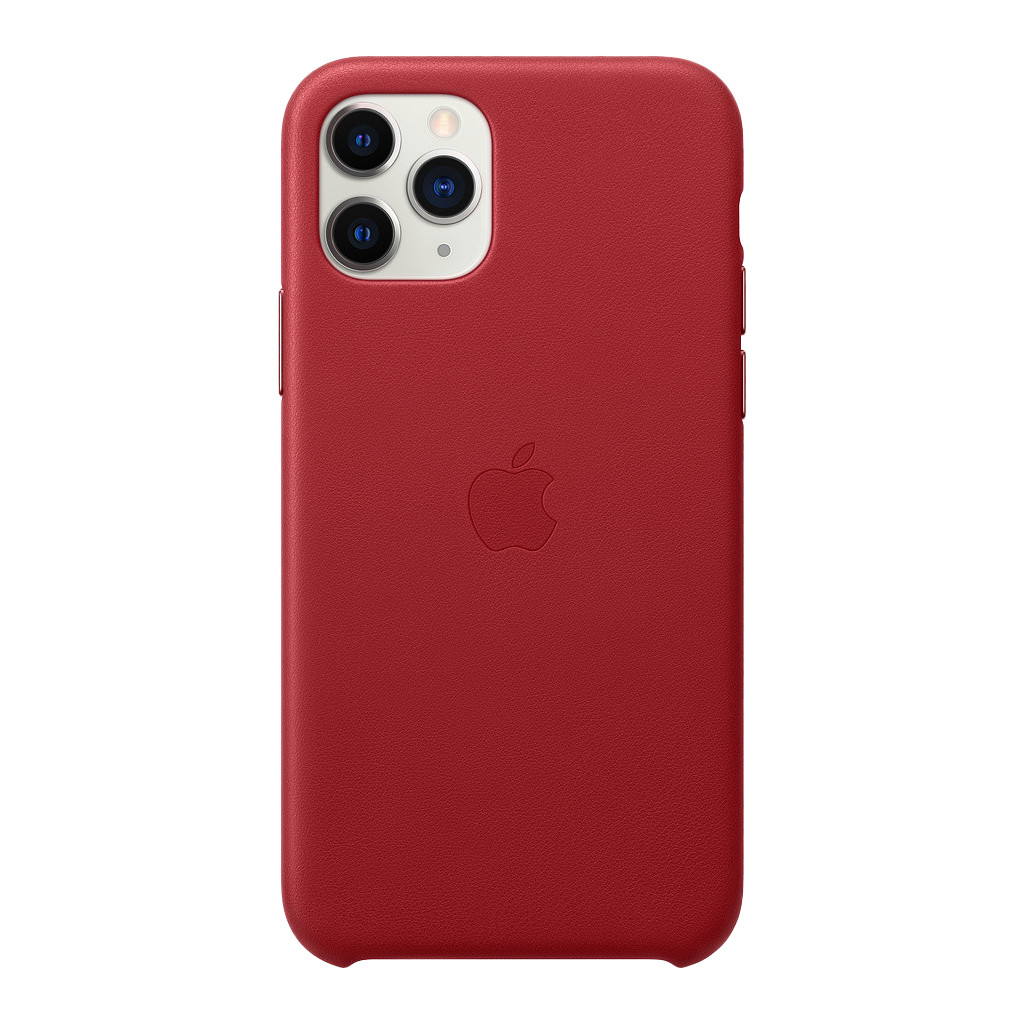 Apple iPhone 11 Pro Max Leather Back Cover Rood