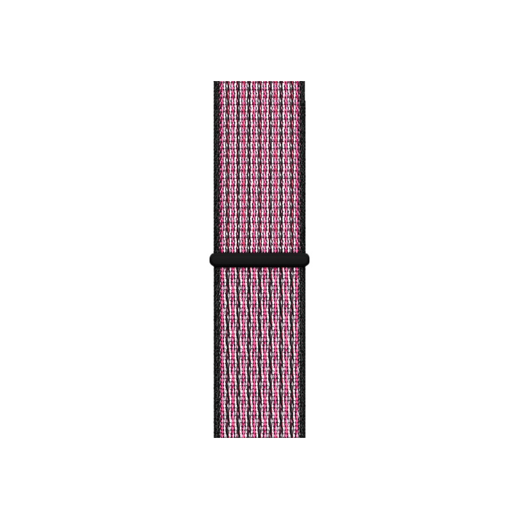 Apple Watch 40mm Nylon Sport Loop Horlogeband Pink Blast/True Berry