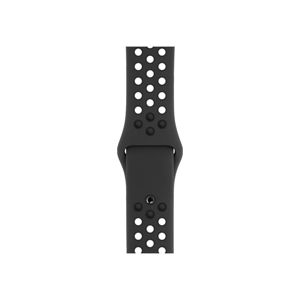 Apple Watch 40mm Siliconen Horlogeband Nike Sport Antraciet/Zwart S/M & M/L