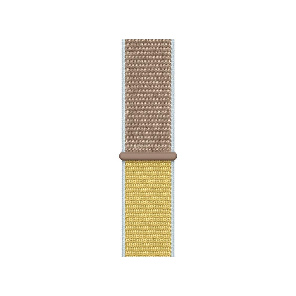 Apple Watch 44mm Nylon Sport Loop Horlogeband Camel