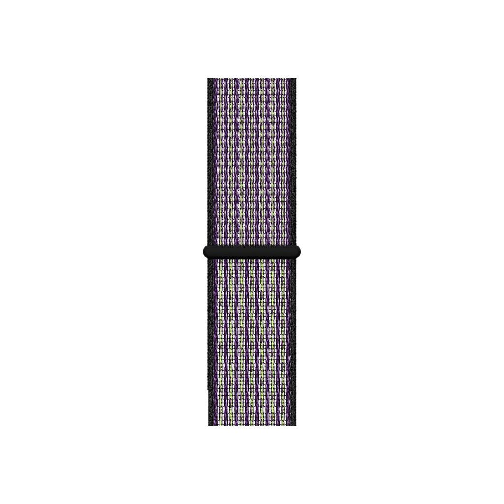 Apple Watch 44mm Nylon Sport Loop Horlogeband Desert Sand/Volt