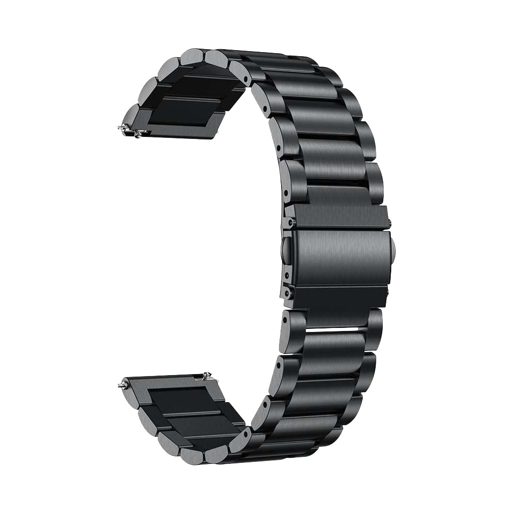 Just in Case Samsung Galaxy Watch Active Metalen Bandje Zwart