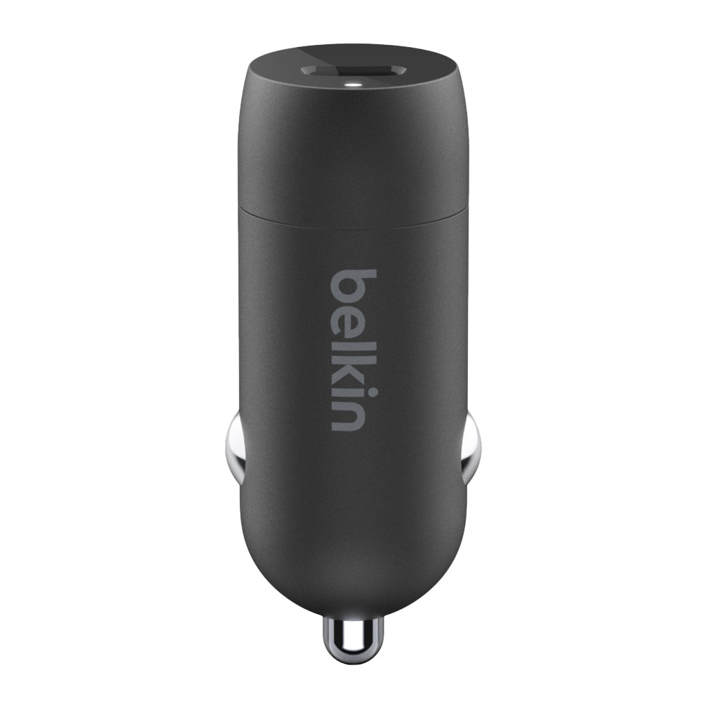 Belkin Autolader zonder Kabel Usb C 18W Power Delivery 3.0 Zwart
