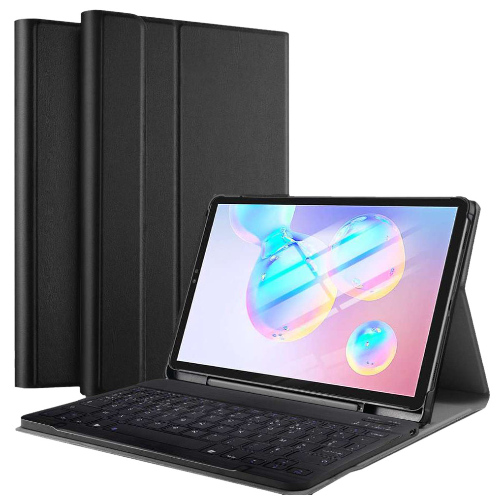 Just in Case Samsung Galaxy Tab S6 Premium Toetsenbord Hoes AZERTY Zwart