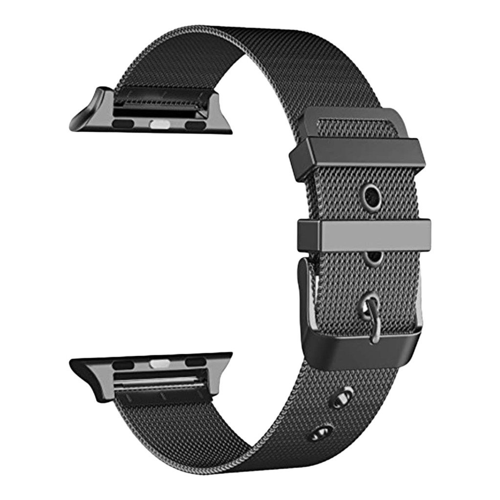 Just in Case Apple Watch 38/40mm Mesh Bandje Zwart