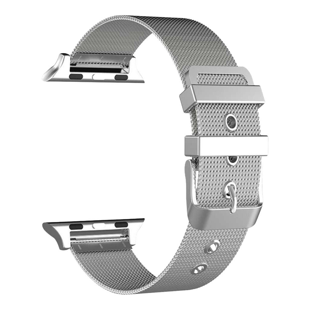 Just in Case Apple Watch 38/40mm Mesh Bandje Zilver