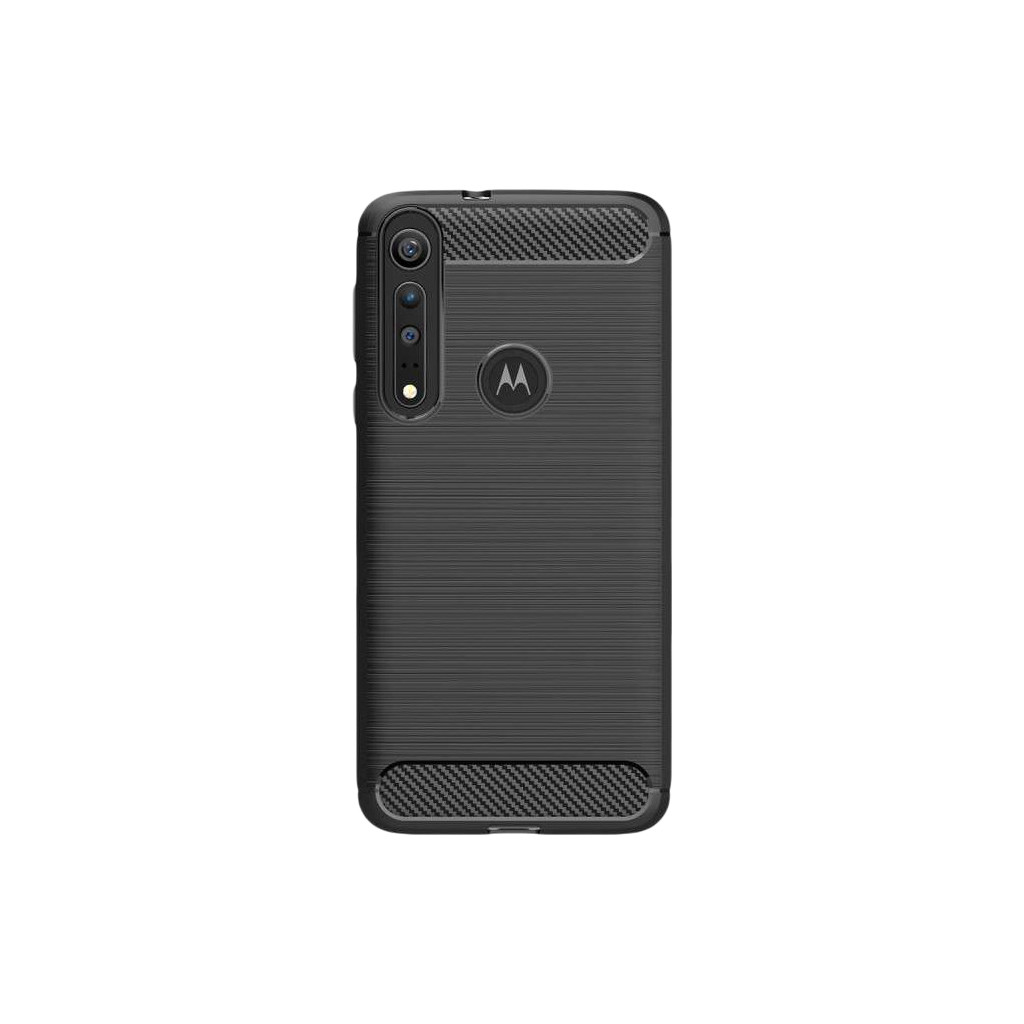 Just in Case Rugged TPU Motorola One Macro Back Cover Zwart