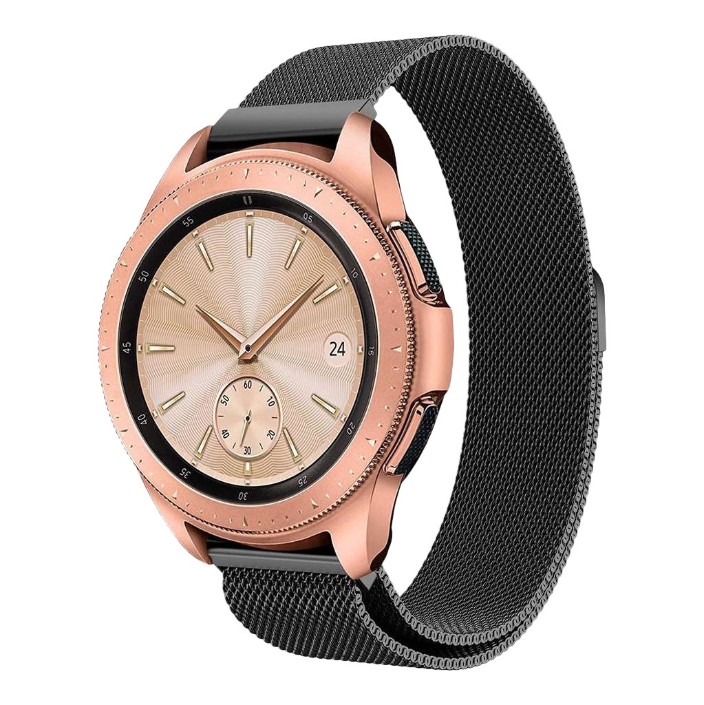 Just in Case Samsung Galaxy Watch Active2 Milanees Bandje Zwart