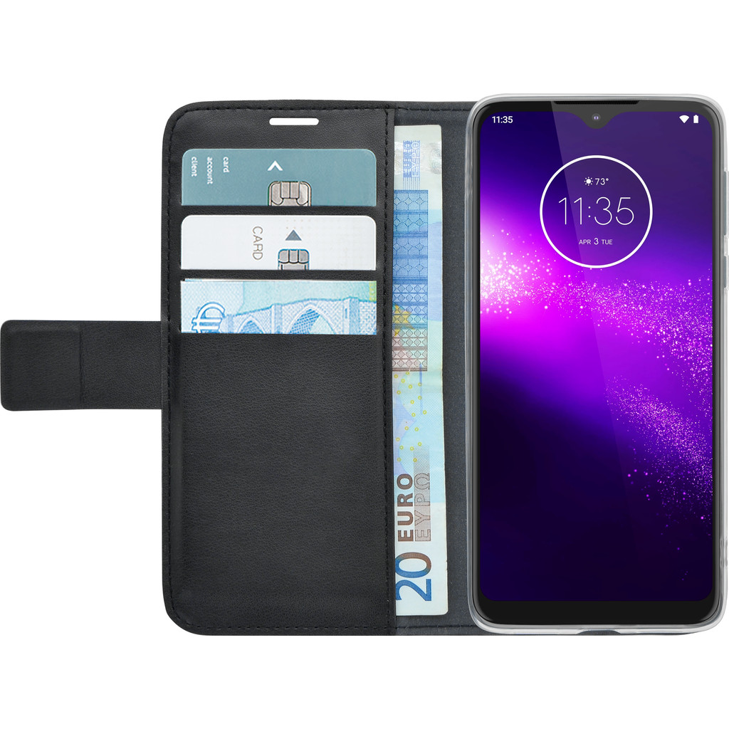 Azuri Wallet Motorola One Macro Book Case Zwart