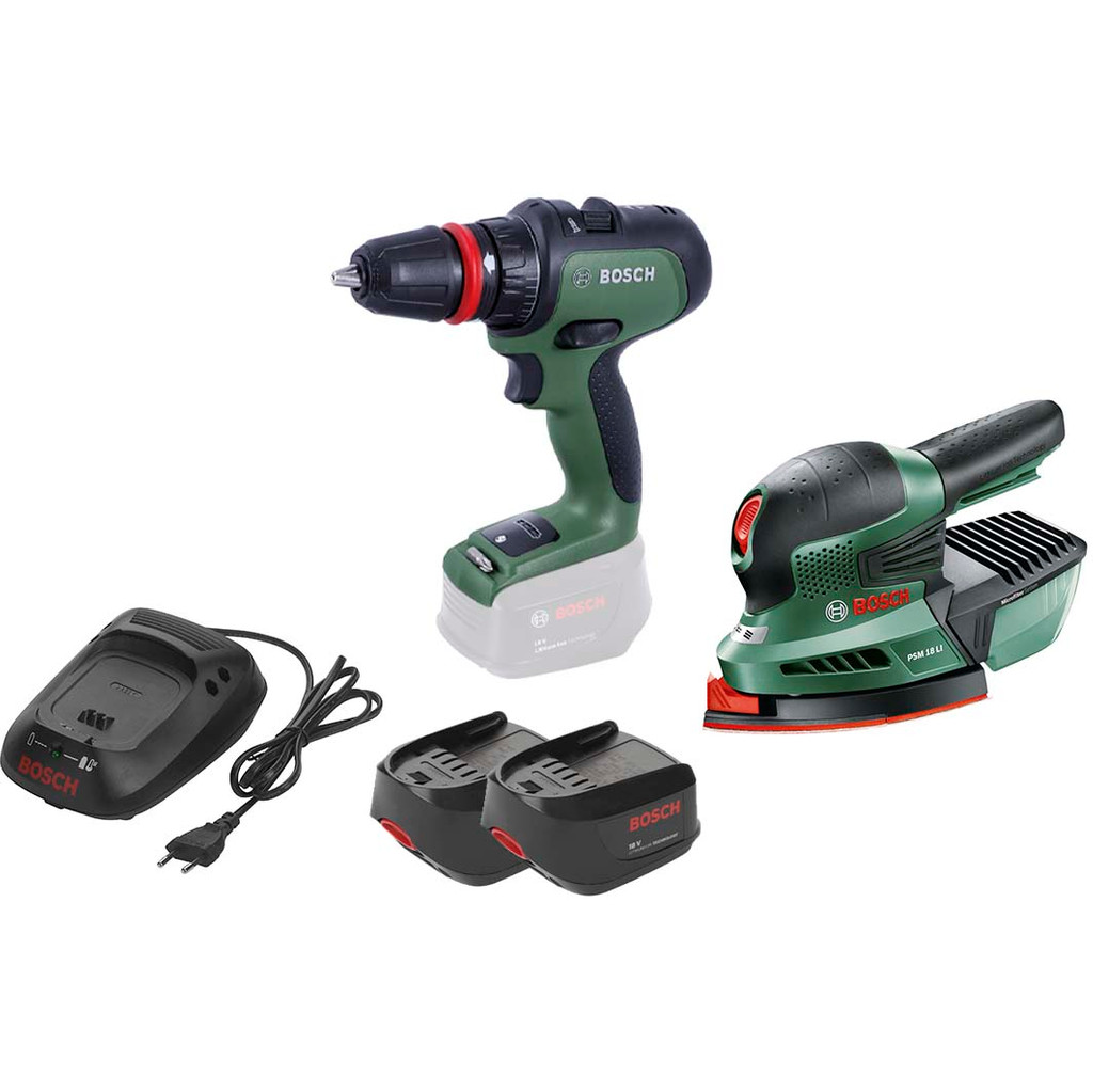 Bosch AdvancedDrill 18 en PSM 18 Li Combiset