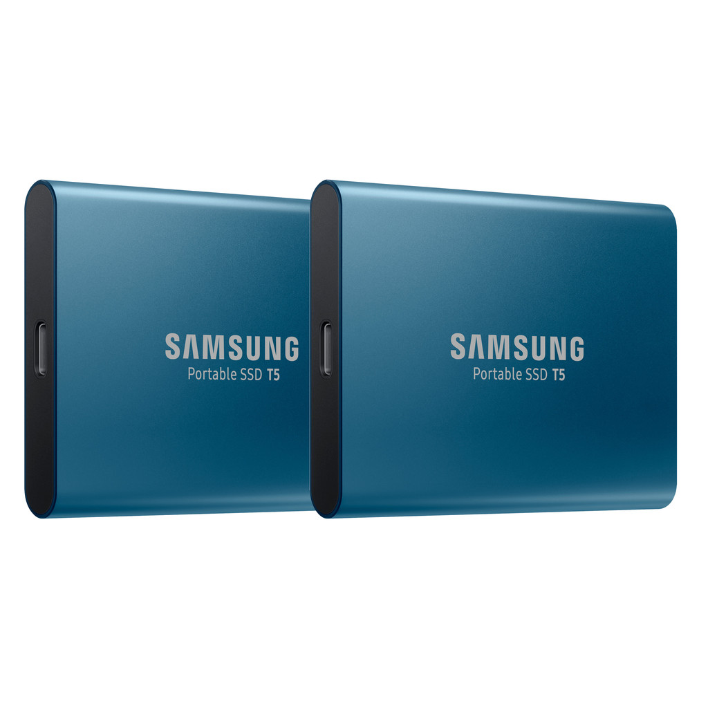 Samsung Portable SSD T5 500GB Duo Pack Blauw
