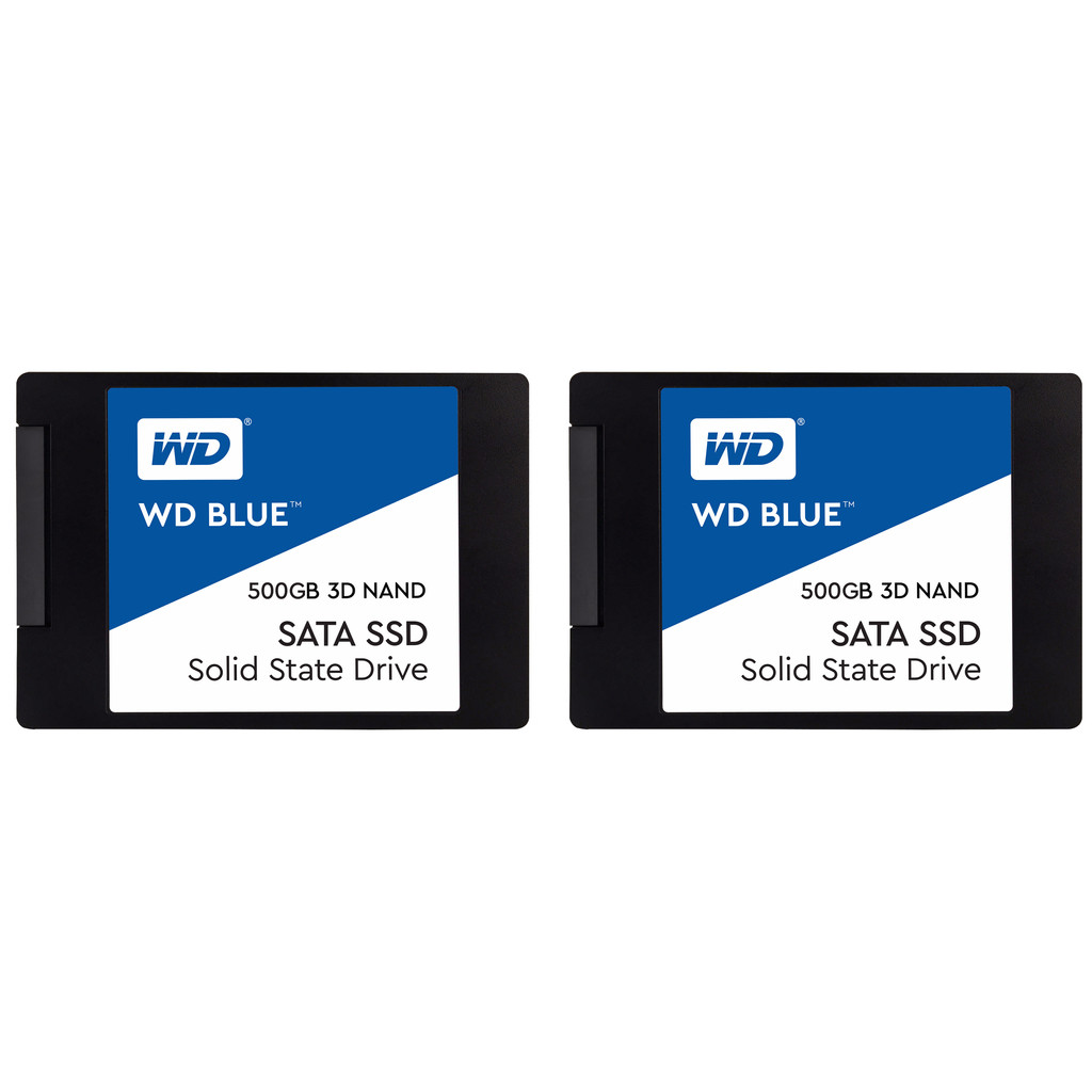 WD Blue 3D NAND 500GB 2,5 inch Duo Pack