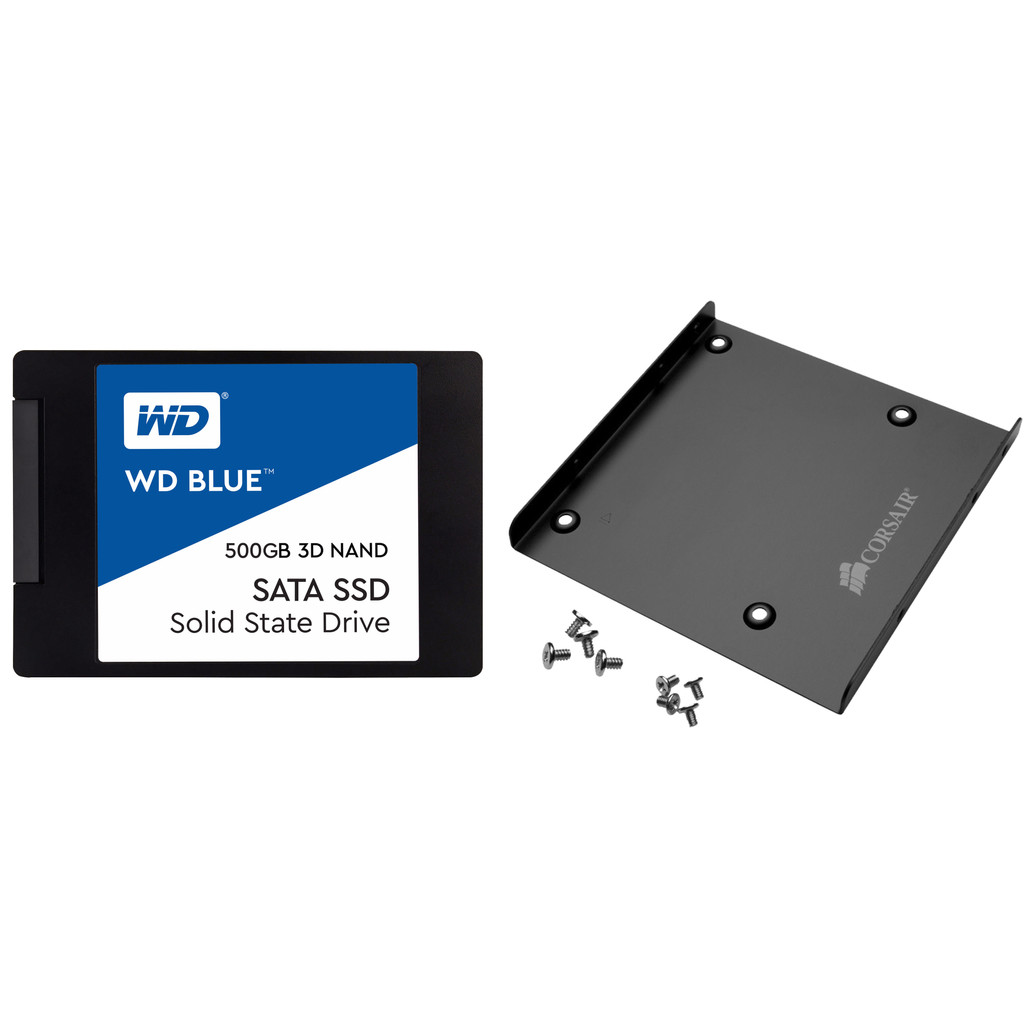 WD Blue 3D NAND 500GB 2,5 inch + Mounting bracket
