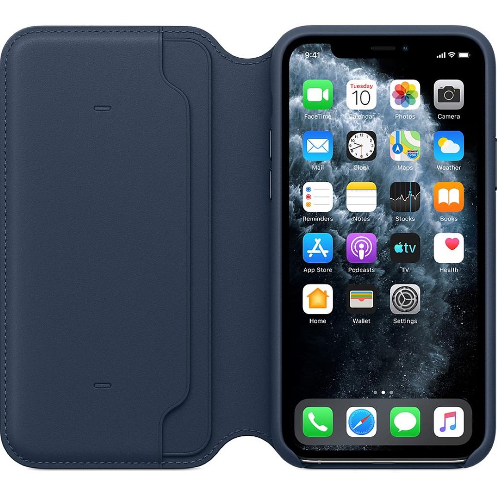 Apple iPhone 11 Pro Leather Folio Diepzeeblauw