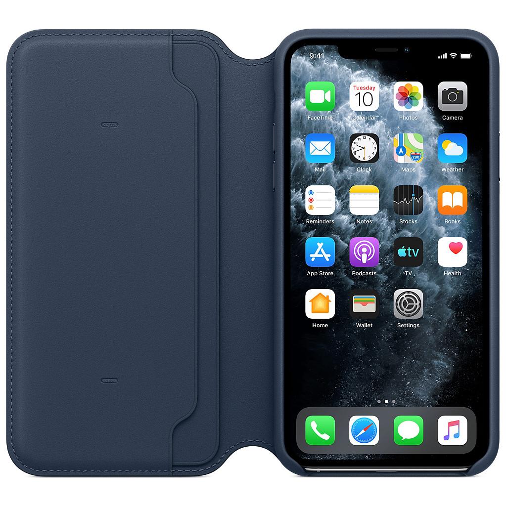 Apple iPhone 11 Pro Max Leather Folio Diepzeeblauw