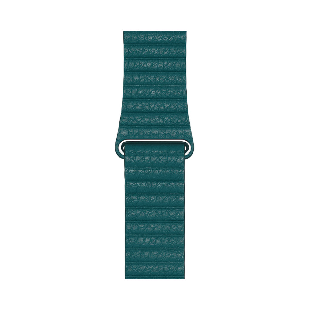 Apple Watch 42/44 mm Leather Loop Horlogeband Pauwenblauw - Medium