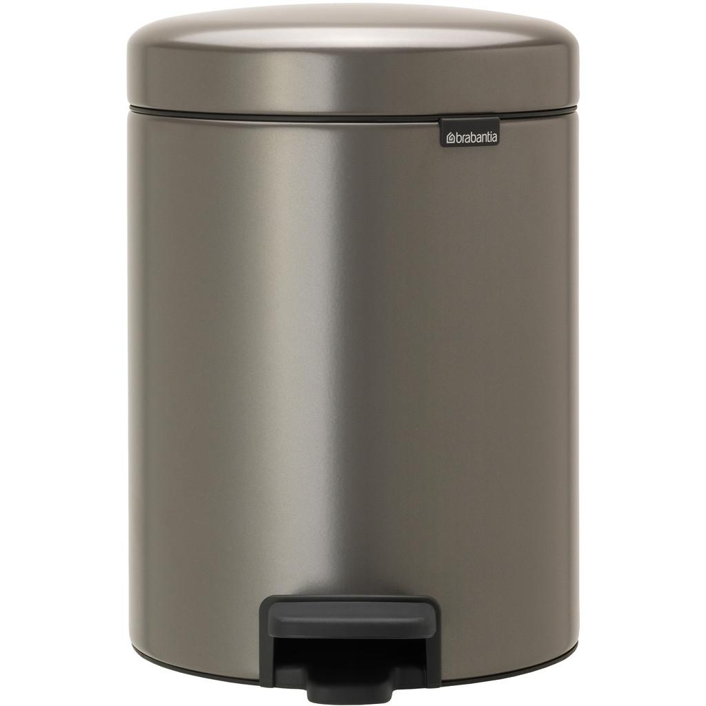Brabantia newIcon pedaalemmer 2 x 2 liter met 2 kunststof binnenemmers - Platinum